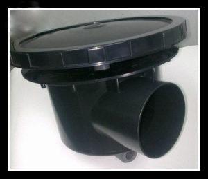 Bonde de fond avec diffuseur, bassin,carpe koi