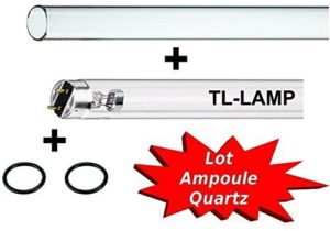 KIT QUARTZ + LAMPE TMC 30 WATTS, bassin carpe koi