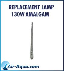 LAMPE UV-C 130 WATTS AMALGAM, uvc bassin, carpe koi