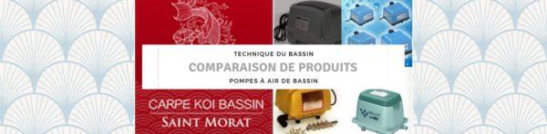 Pompes à air de bassin : comparaison de produits