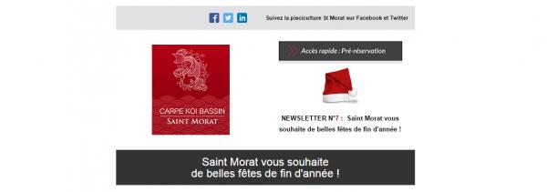 Saint Morat vous souhaite de belles fêtes de fin d'année