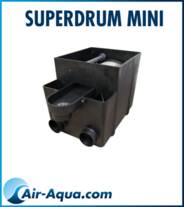 Superdrum-mini-air-aqua-bassin, filtration biologique. CARPE KOI