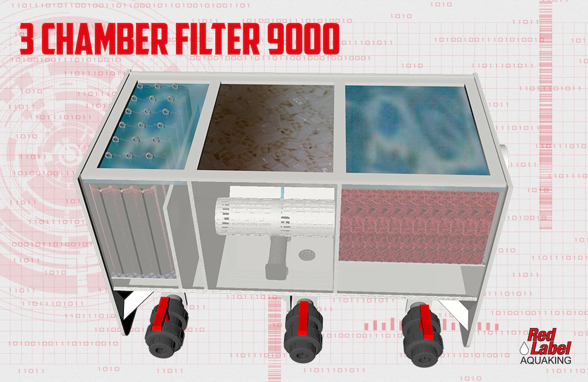 Filtre Biologique Multichambre 3 Chambres Carpe Koi